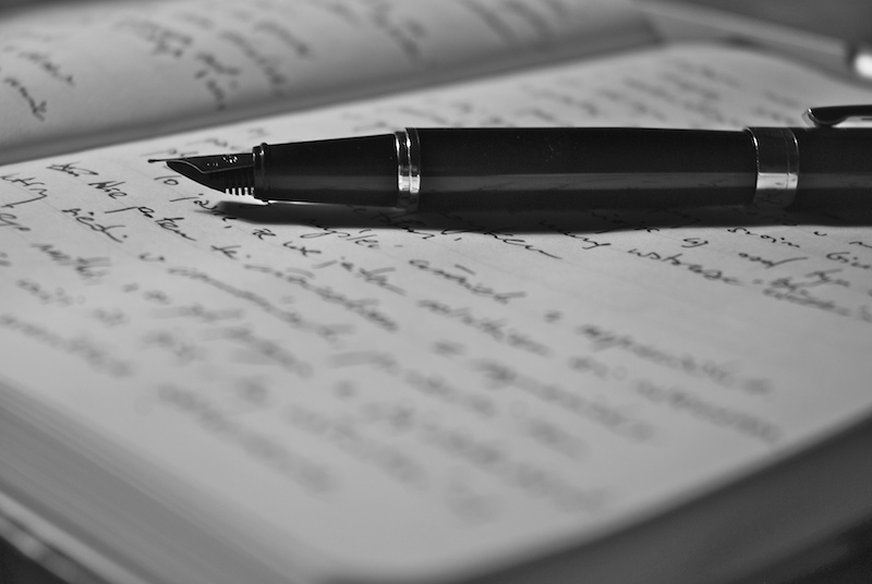 pen writing book