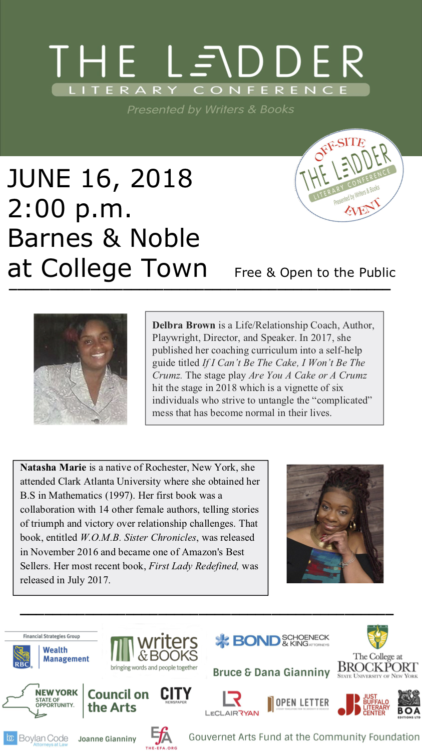 The Ladder Reading Series: Barnes & Noble College Town | Writers & Books