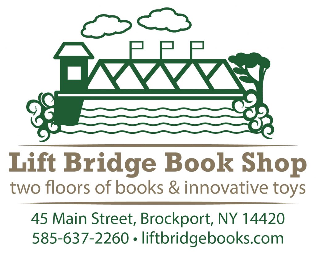 Lift Bridge Book Shop logo 45 Main Street Brockport, NY 14420 585-637-2260 https://www.liftbridgebooks.com